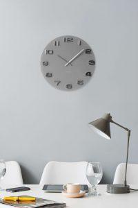 Karlsson vægur - Vintage grå (Wall clock Vintage grey round glass