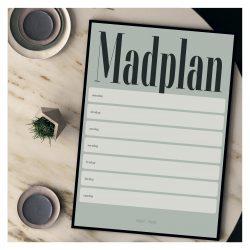 Madplan A3