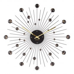 Karlsson vægur - Wall clock Sunburst Crystal Sort