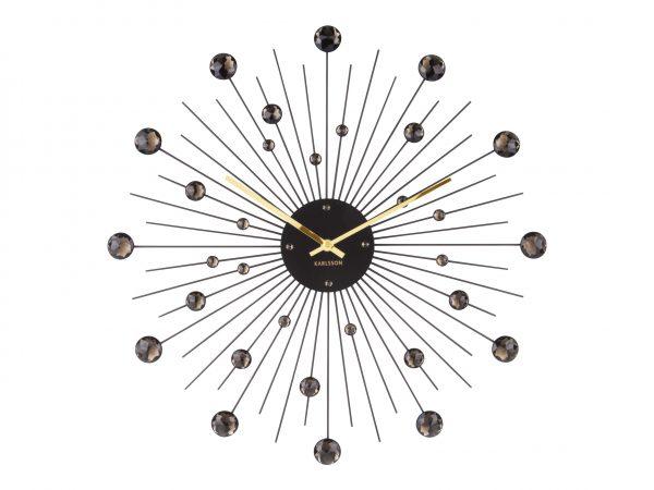 Karlsson vægur - Wall clock Sunburst Crystal Sort