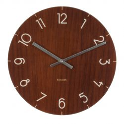 Karlsson glasur i trælook - Wall clock Glass Wood