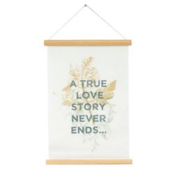 """Poster """"A true love story never ends"""" canvas"""