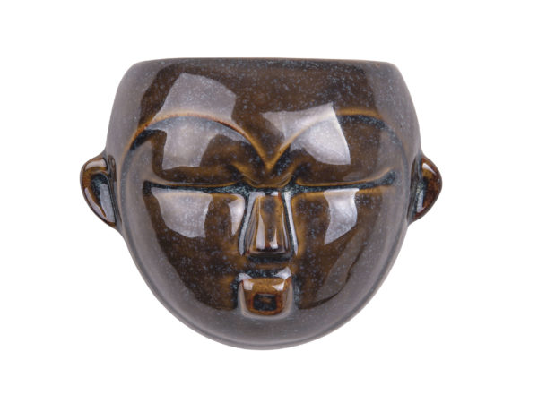 Vægpotteskjuler - brun maske