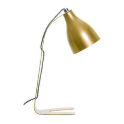 Barefoot bordlampe i guld