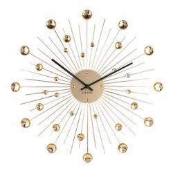 Karlsson vægur - Wall clock Sunburst Crystal Guld