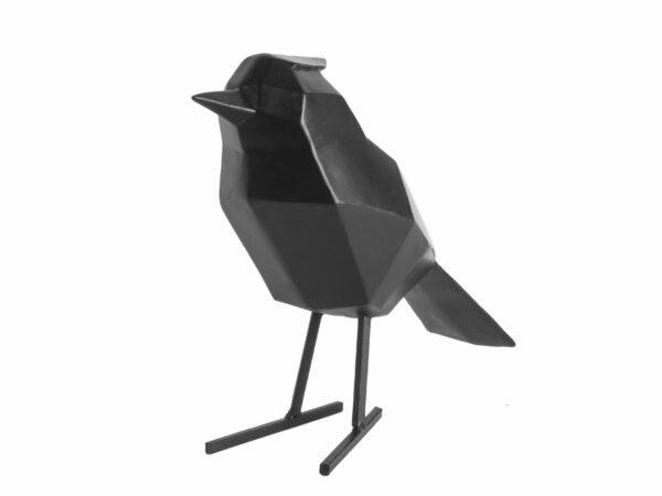 Statue bird Large - Sort fugl