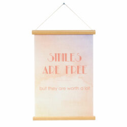 """Poster """"Smiles are free"""" canvas"""