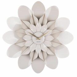 Blomst - Karlsson vægur i lys grå
