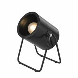 Hefty bordlampe sort fra leitmotiv