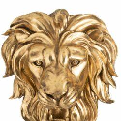 Løvehoved i guld